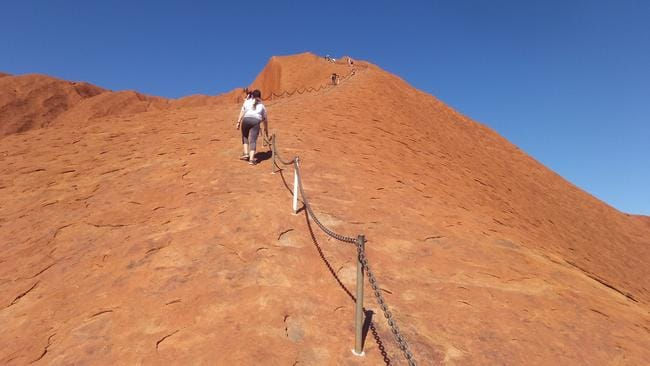 Many Australians have chosen to climb to the top of Uluru. Picture: Marc Hendrickx