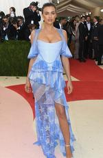 "Irina Shayk attends the ""Manus x Machina: Fashion In An Age Of Technology"" Costume Institute Gala at Metropolitan Museum of Art on May 2, 2016 in New York City. Picture: Larry Busacca/Getty Images/AFP"