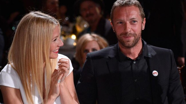 With ex-husband Chris Martin before their 'conscious uncoupling'. Picture: Getty