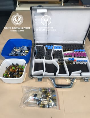Police found 200 vials containing liquid anabolic steroids at the Prospect home. Picture: Supplied