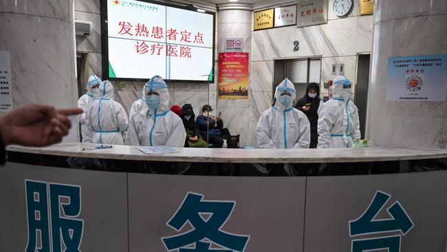 Doctors on the frontline of China's new coronavirus epidemic are facing a daunting task. Picture: HECTOR RETAMAL/AFP