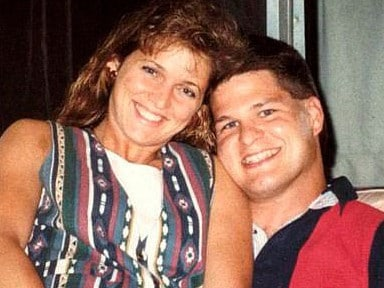 David Temple and his first wife Belinda who prosecutors allege he murdered so that he could be with his mistress. Picture: Supplied