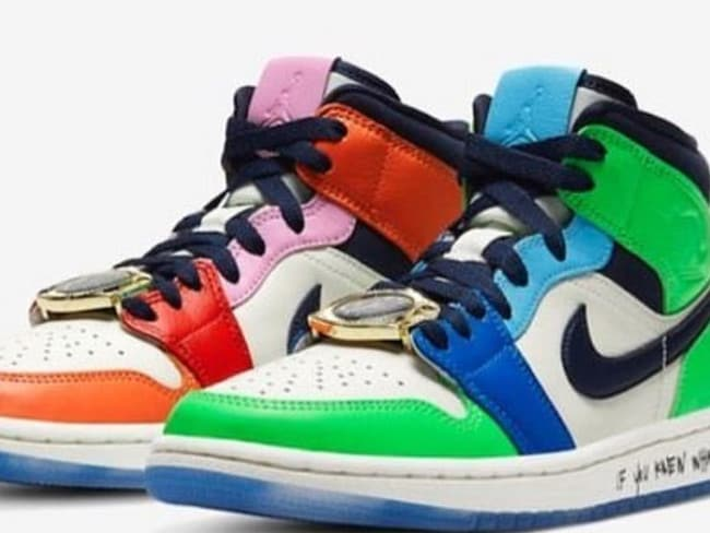 Melody Ehsani X Air Jordan 1 Mid SE sneakers for Nike. Picture: Instagram