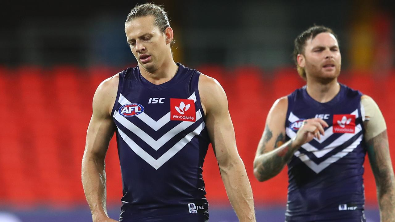 Nat Fyfe has been criticised for a defensive effort on the weekend (Photo by Chris Hyde/Getty Images).