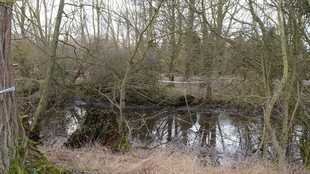 The site where the body of William Taylor was found. Picture: Hertfordshire Police/PA Wire