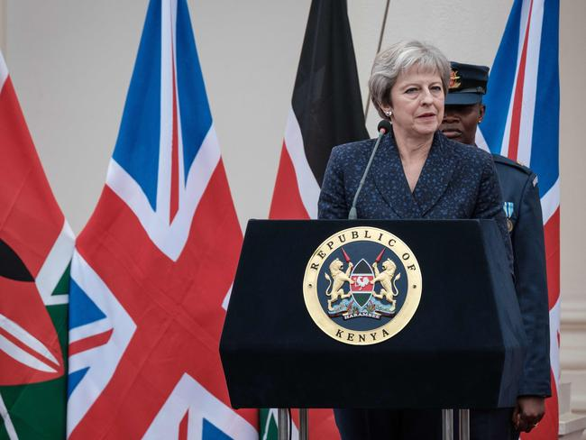The PM promised not to give in to activists demanding another referendum. Picture: AFP