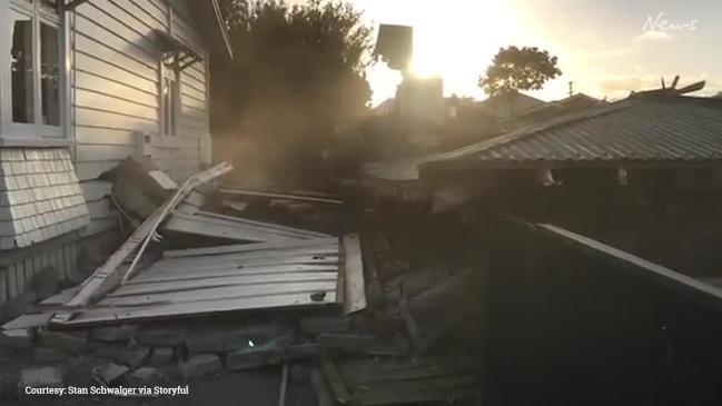 House damaged in epic demolition fail