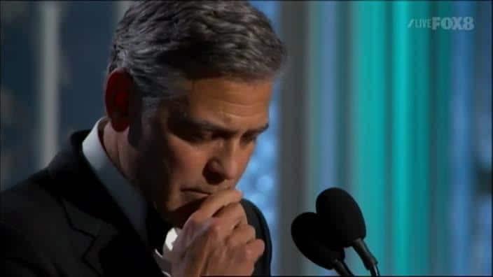 George Clooney tells Golden Globes 'Je Suis Charlie'