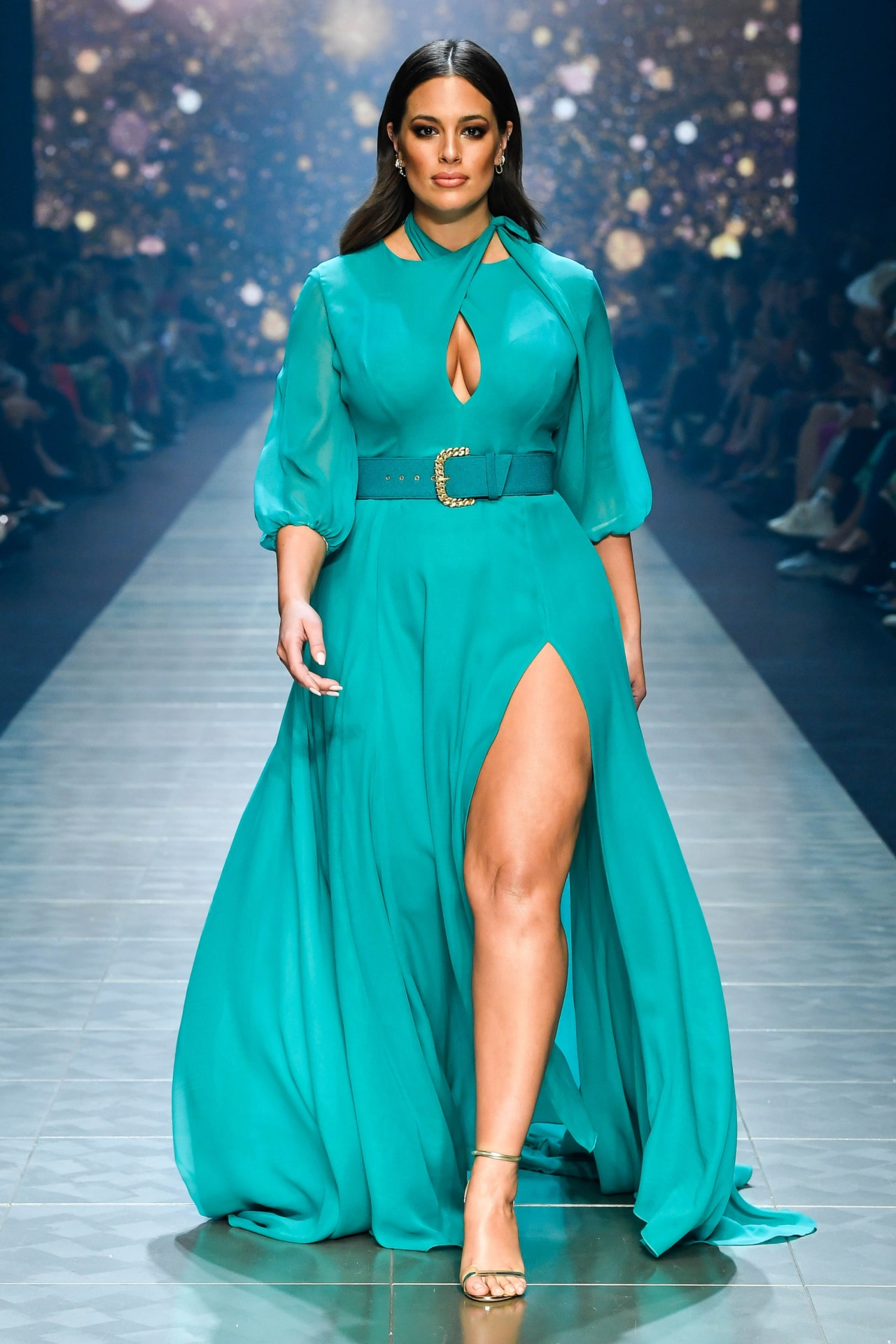 Ashley Graham walks the runway at VAMFF 2019. Image credit: Supplied