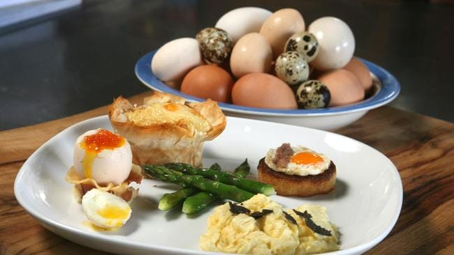 Egg assiette at Pearl Cafe, Woollongabba.
