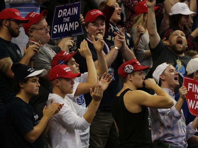 Supporters at a Trump rally in Tennessee. Picture: Getty Images/AFP