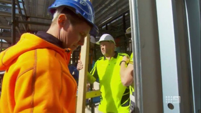 Tradie booted off The Block following onsite safety concerns (Nine)