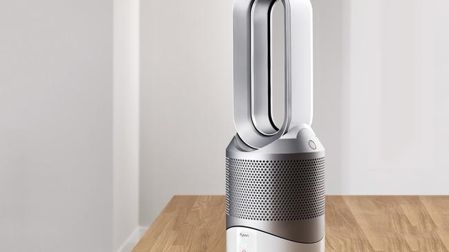 The Dyson Pure Hot + Cool Link is a fan, a heater, and an air purifier, and it connect to a smartphone app to let users know what the air quality is line inside their homes.