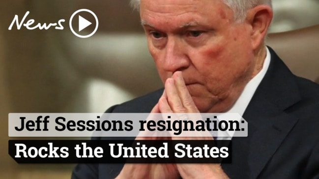 US Attorney General Jeff Sessions bombshell resignation