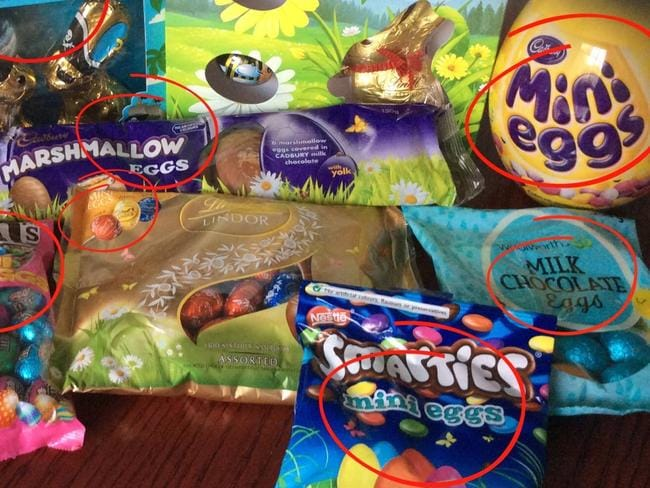Has the word Easter been removed from our chocolate packaging? Picture: Facebook/Craig Kelly.