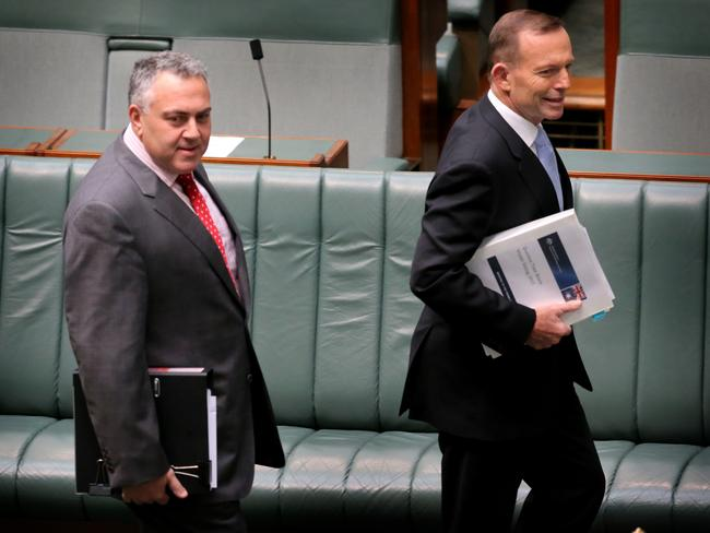 Unpopular pollies ... Treasurer Joe Hockey and Prime Minister Tony Abbott made the top 10 most hated public figures list.