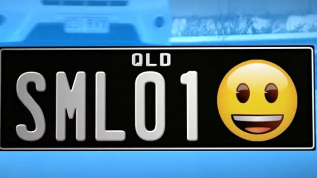 Queensland drivers set to get emoji number plates
