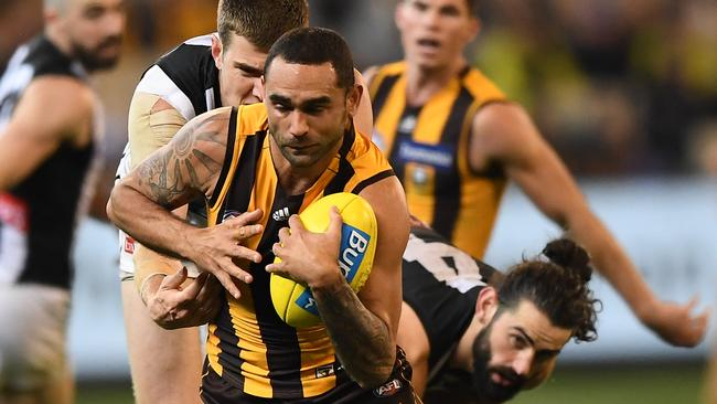 Shaun Burgoyne of the Hawks is keen to play 400 AFL games.