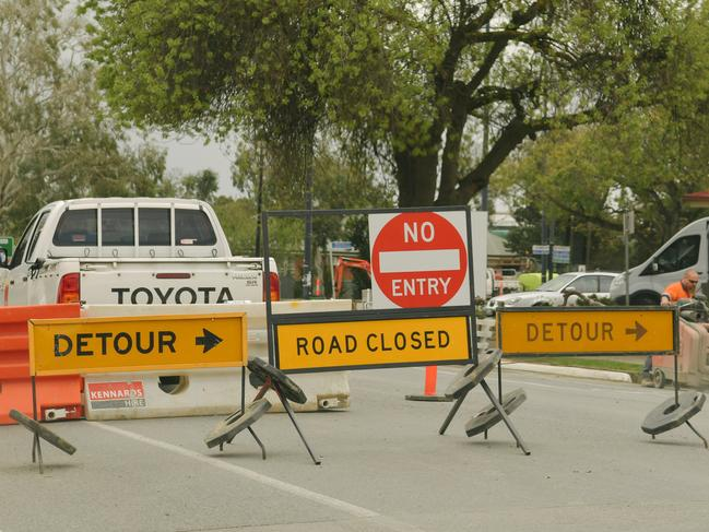 Road detours will be in place at some roadworks. Pictures: AAP Image/Morgan Sette