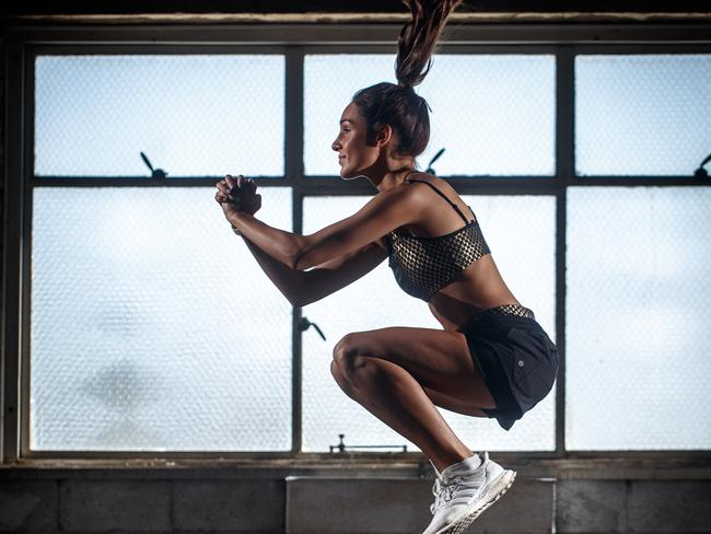 Kayla Itsines's message to her millions of followers is about strength, rather than getting skinny. Picture: Matt Turner.