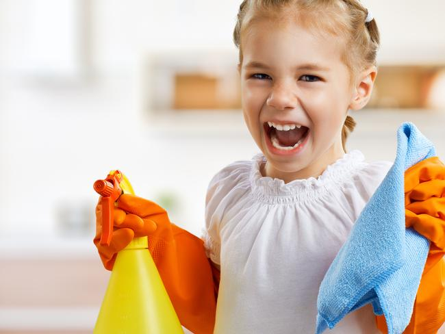 Nobody feels this enthusiastic about housework. Picture: iStock