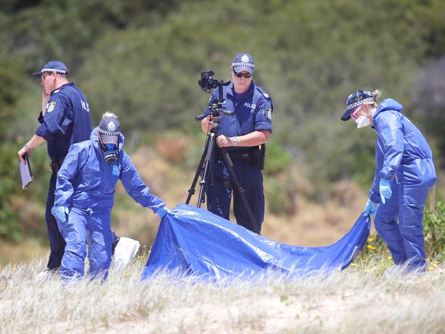 Police still don't know how the baby girl found dead at Maroubra Beach came to be abandoned. Pic: Cameron Richardson