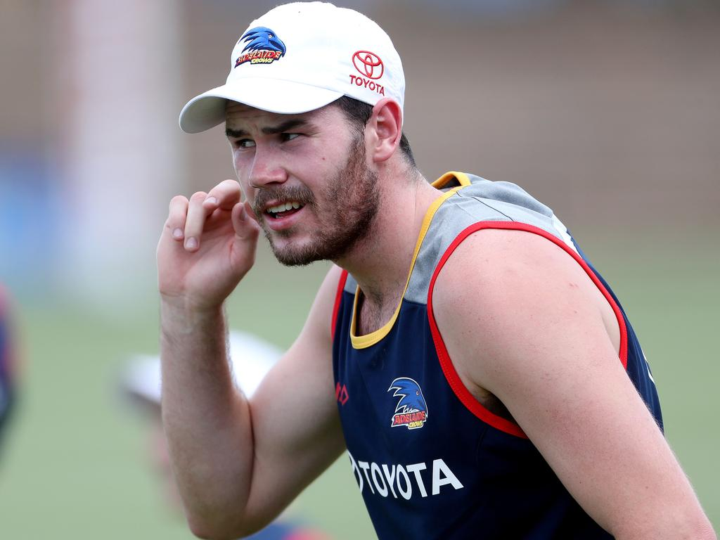 Adelaide Crows men's team's 1-4 year players start pre-season training at Thebarton Oval at 3.15pm.