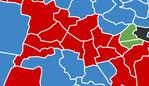 Map shows where the seats are falling in Sydney.