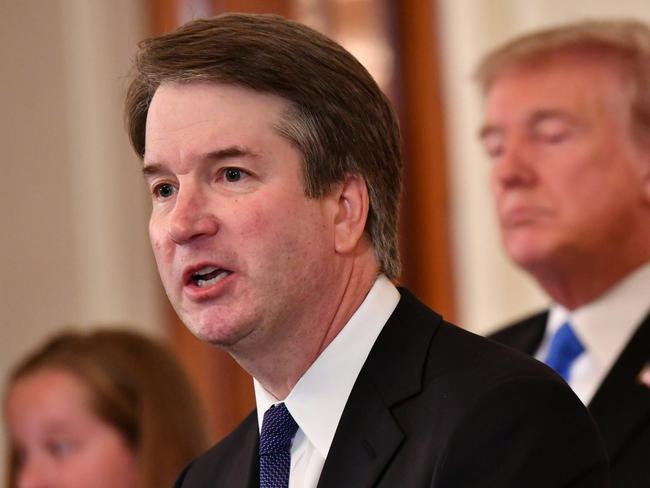 Supreme Court nominee Brett Kavanaugh speaks after US President Donald Trump announced his nomination. Picture: AFP/Mandel Ngan