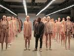 Kanye West poses during the finale of Yeezy Season 2 during New York Fashion Week. Picture: Getty