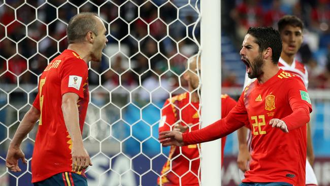 Isco celebrates. (Photo by Julian Finney/Getty Images)