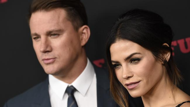 Channing Tatum, left, and Jenna Dewan. Picture: AP