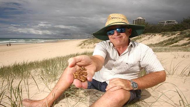 MAN FINDS GOLD NUGGETS ON GOLD COAST BEACH