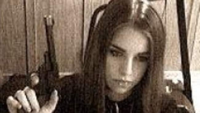 Jasmine Richardson went from a fresh-faced pre-teen to a violent goth who slashed her own eight-year-old brother's throat. Picture: MySpace