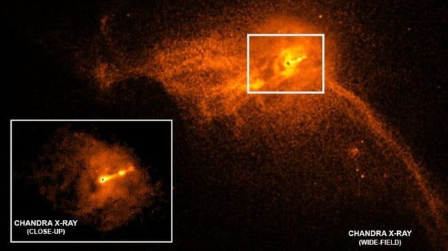 The first photograph of a black hole and its fiery halo, released by Event Horizon Telescope astronomers (EHT), which is the 'most direct proof of their existence'.