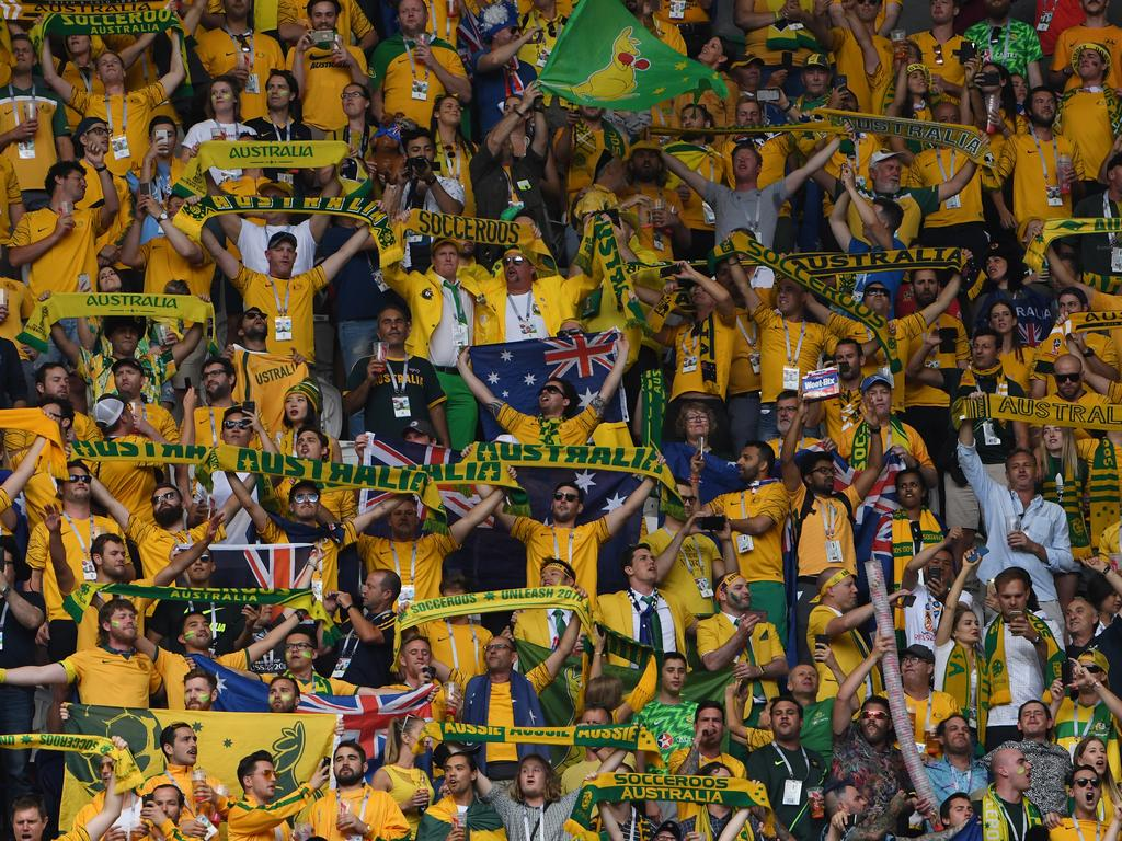 The Socceroos won't quite have the same travelling support they enjoyed at the World Cup in Russia.
