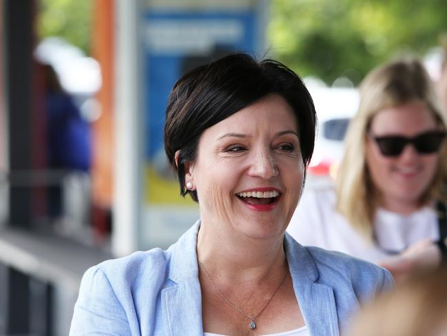 Shadow Minister for Transport Jodi McKay slammed the Liberals and Nationals for letting the number of cyclists in NSW plummet. Picture: Peter Lorimer.