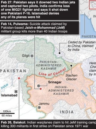 Pakistan, India, Kashmir: Warning of nuclear war as fighter jets clash