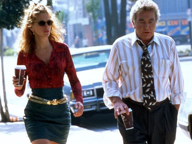 Albert Finney in scene from Erin Brockovich with Julia Roberts. Picture: Supplied