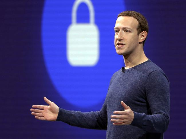 Facebook CEO Mark Zuckerberg. Picture: AP/Marcio Jose Sanchez