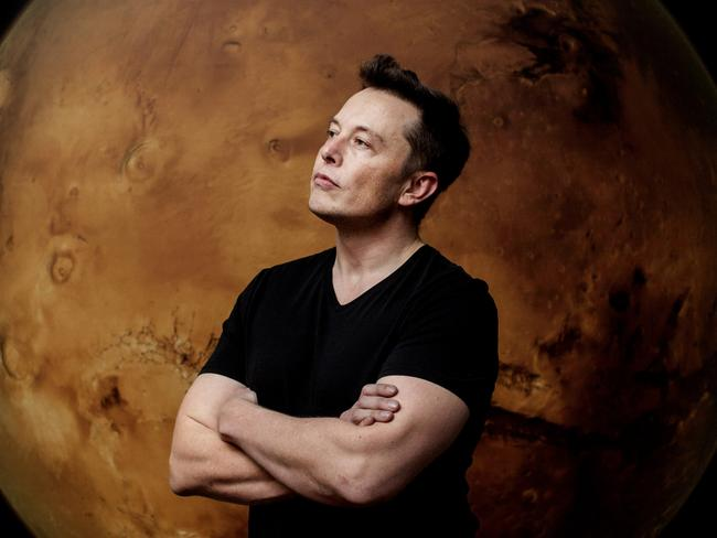 Space X and Tesla Motors founder and CEO, Elon Musk has been in headlines a lot recently. Picture: Benjamin Lowy