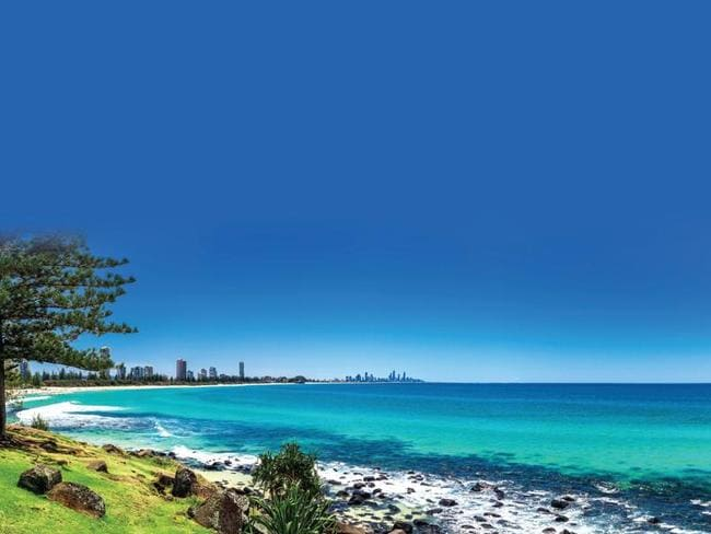 The blue waters of Burleigh Heads.