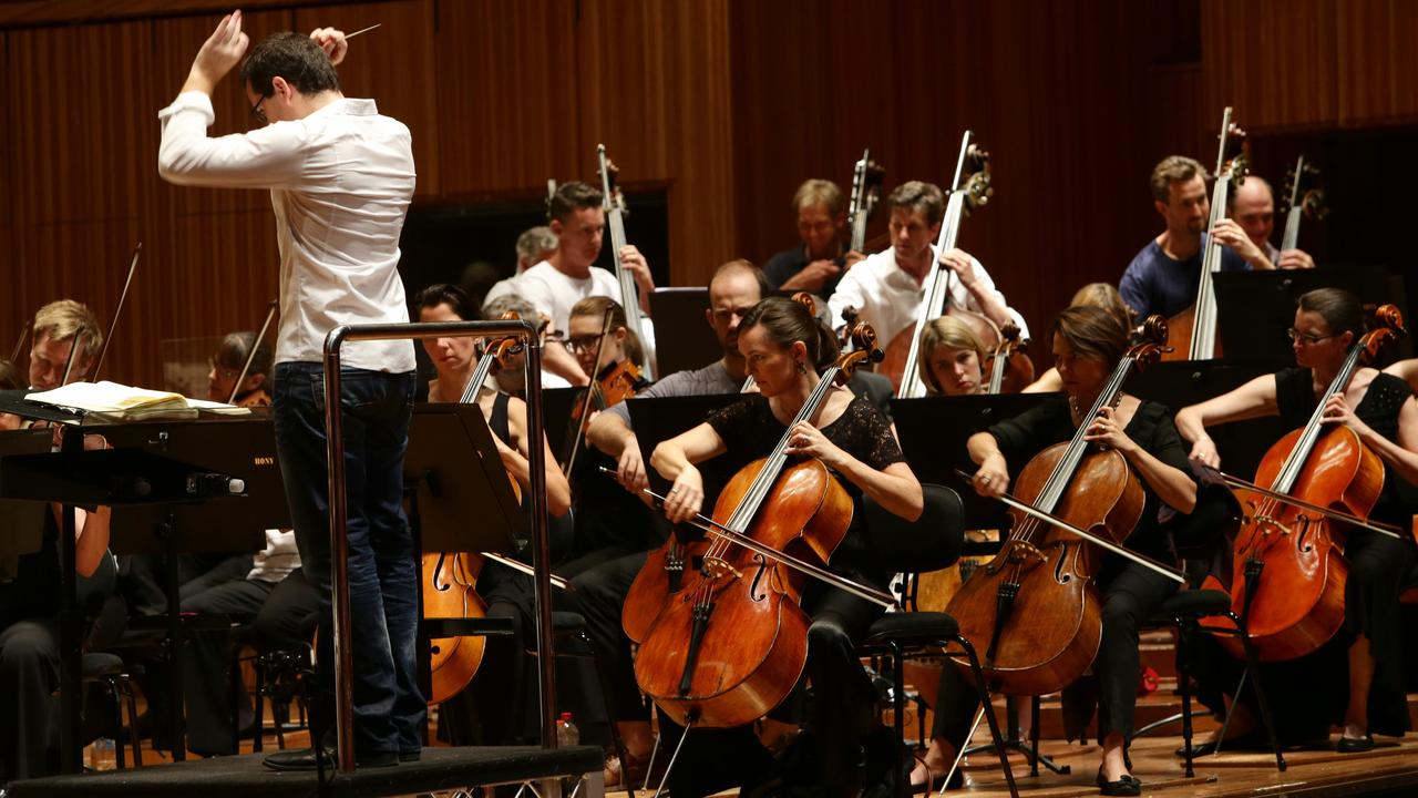 Sydney Symphony Orchestra practice in the Concert Hall at the Sydney Opera House.
