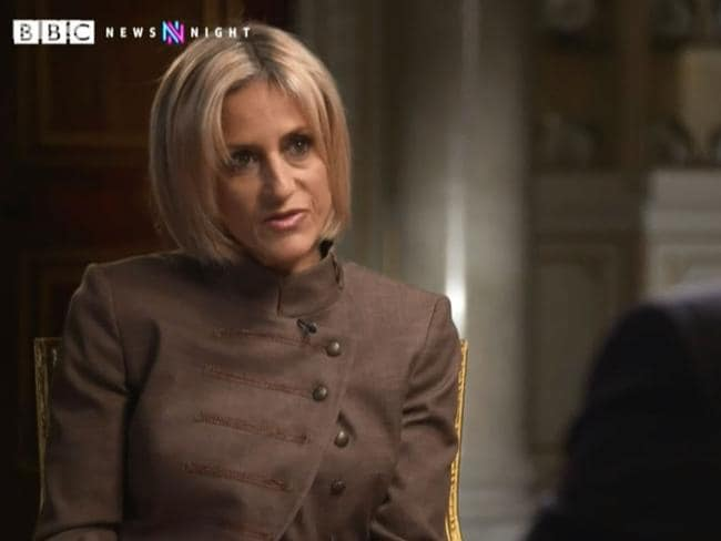 BBC Newsnight's Emily Maitlis said the interview was the most extraordinary interview of her career. Picture: BBC
