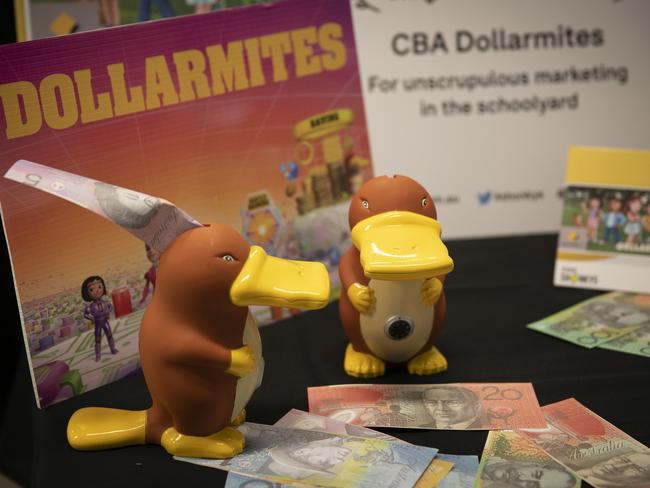 Consumer group Choice awarded CommBank a Shonky Award for its Dollarmites program. Picture: Choice/AAP