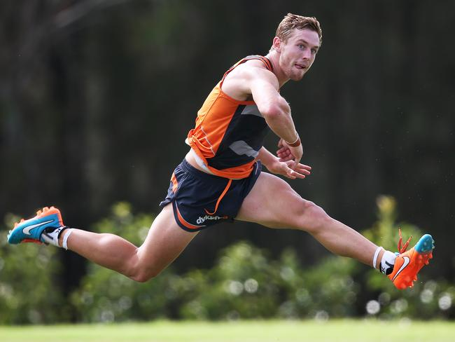 Perhaps Devon Smith needs more practice in kicking for goal at training. Picture: Phil Hillyard