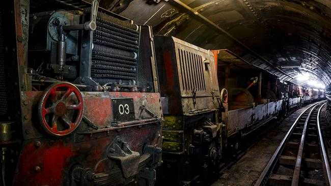 The trains that used to ply the route and carry letters are still on display. Picture: The Postal Museum — Miles Willis
