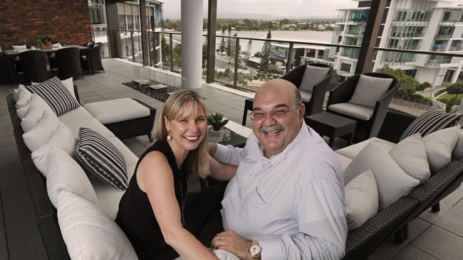 Elias Jreissati with his wife Colleen sold the penthouse.