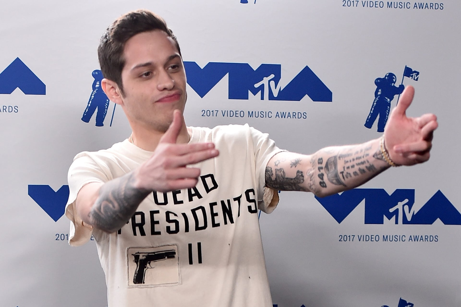 Pete Davidson attends the 2017 MTV Video Music Awards. Image credit: Getty Images