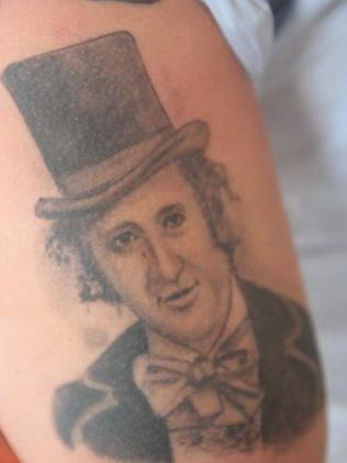 Adriano Zumbo's tattoo of Willy Wonka.